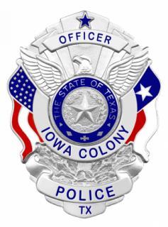Iowa Colony Officer Badge